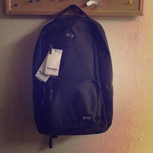 ✅ NWT SOLO NEW YORK Bowery Backpack Black Laptop
